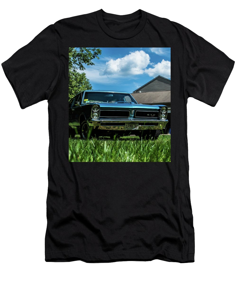 Tempist Men's T-Shirt (Athletic Fit) featuring the photograph Classic Cars by Mickie Bettez