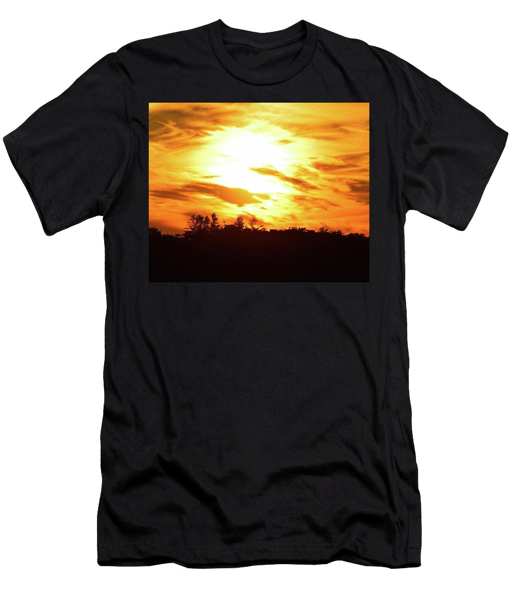 Sunset Men's T-Shirt (Athletic Fit) featuring the photograph 8.46.30 Pm June 13-2016 by Lyle Crump