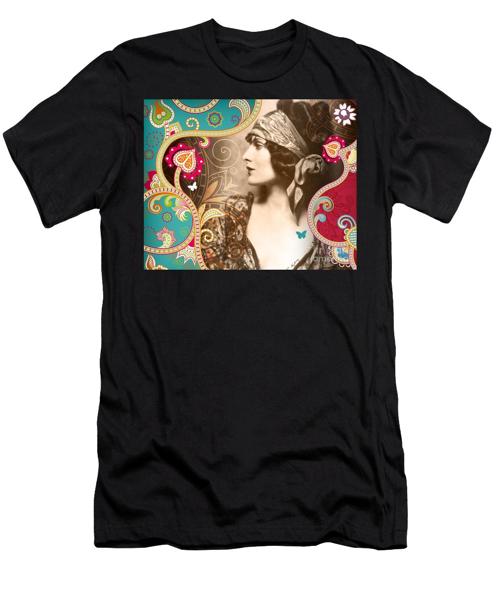 Nostalgic Seduction Men's T-Shirt (Athletic Fit) featuring the photograph Goddess by Chris Andruskiewicz