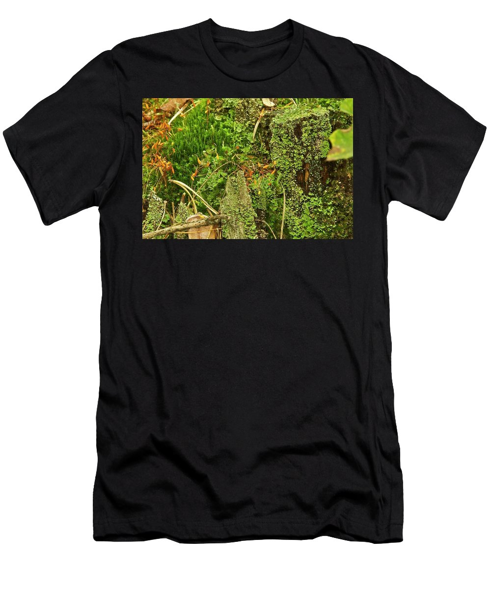 Moss Men's T-Shirt (Athletic Fit) featuring the photograph Mosses And Liverworts 8861 by Michael Peychich