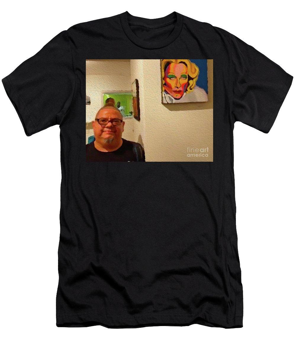 Walter Paul Bebirian Men's T-Shirt (Athletic Fit) featuring the digital art 9-10-2057r by Walter Paul Bebirian