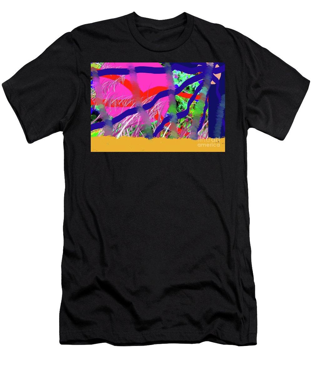 Walter Paul Bebirian Men's T-Shirt (Athletic Fit) featuring the digital art 9-12-2057c by Walter Paul Bebirian