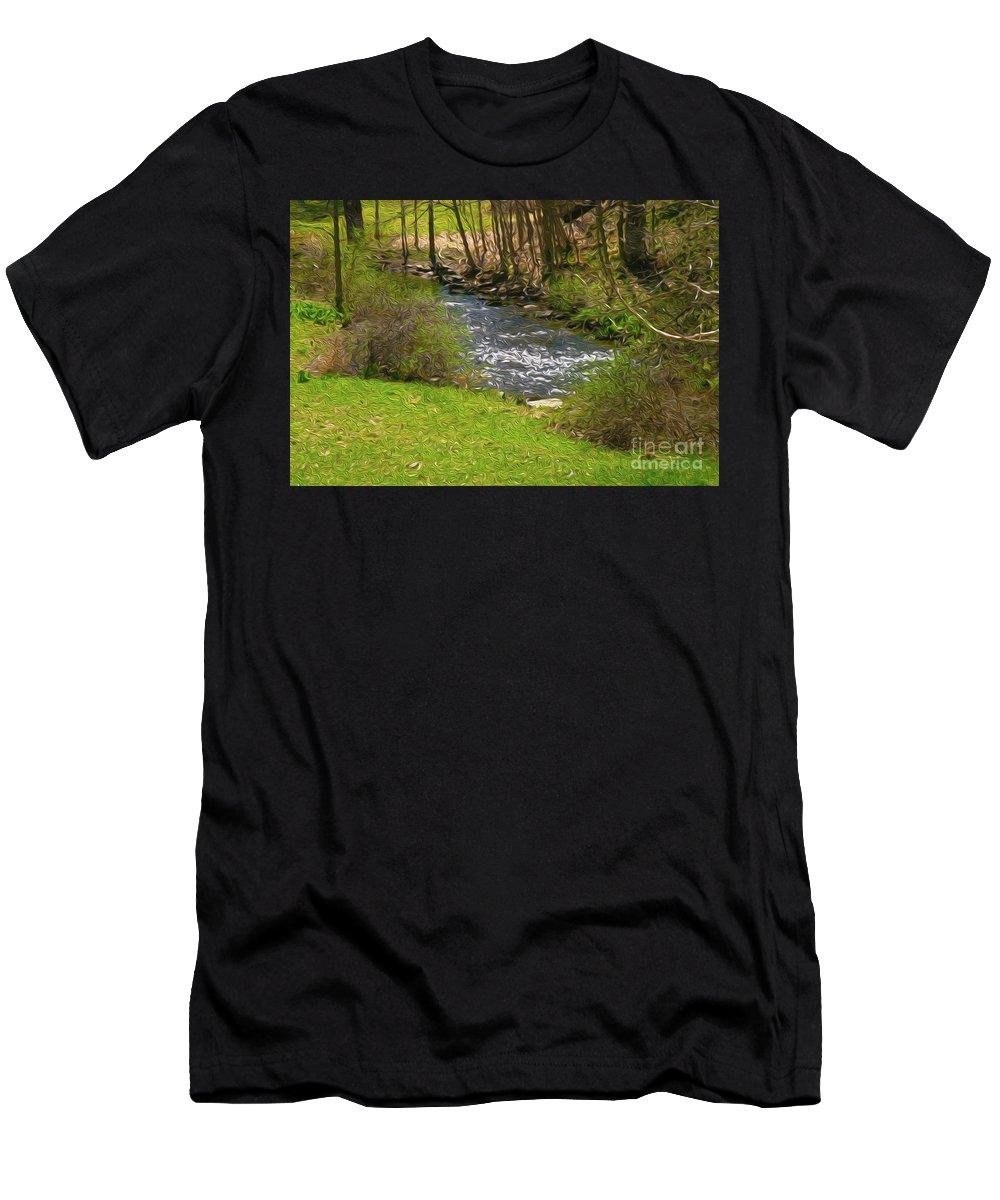 Walter Paul Bebirian Men's T-Shirt (Athletic Fit) featuring the digital art 9-12-2057g by Walter Paul Bebirian
