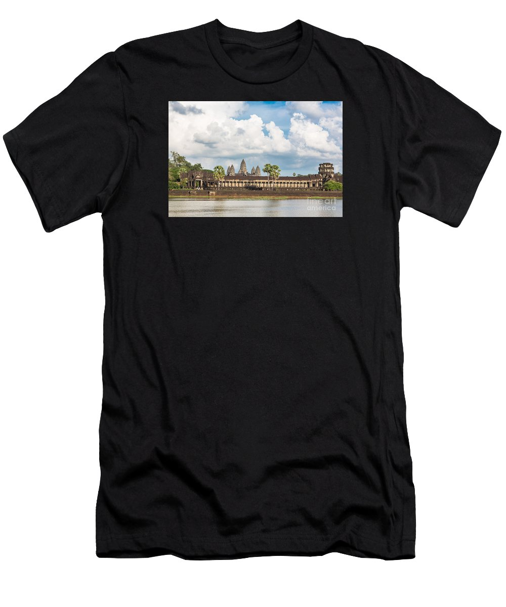 Ancient Men's T-Shirt (Athletic Fit) featuring the photograph Angkor Wat In Cambodia by Didier Marti