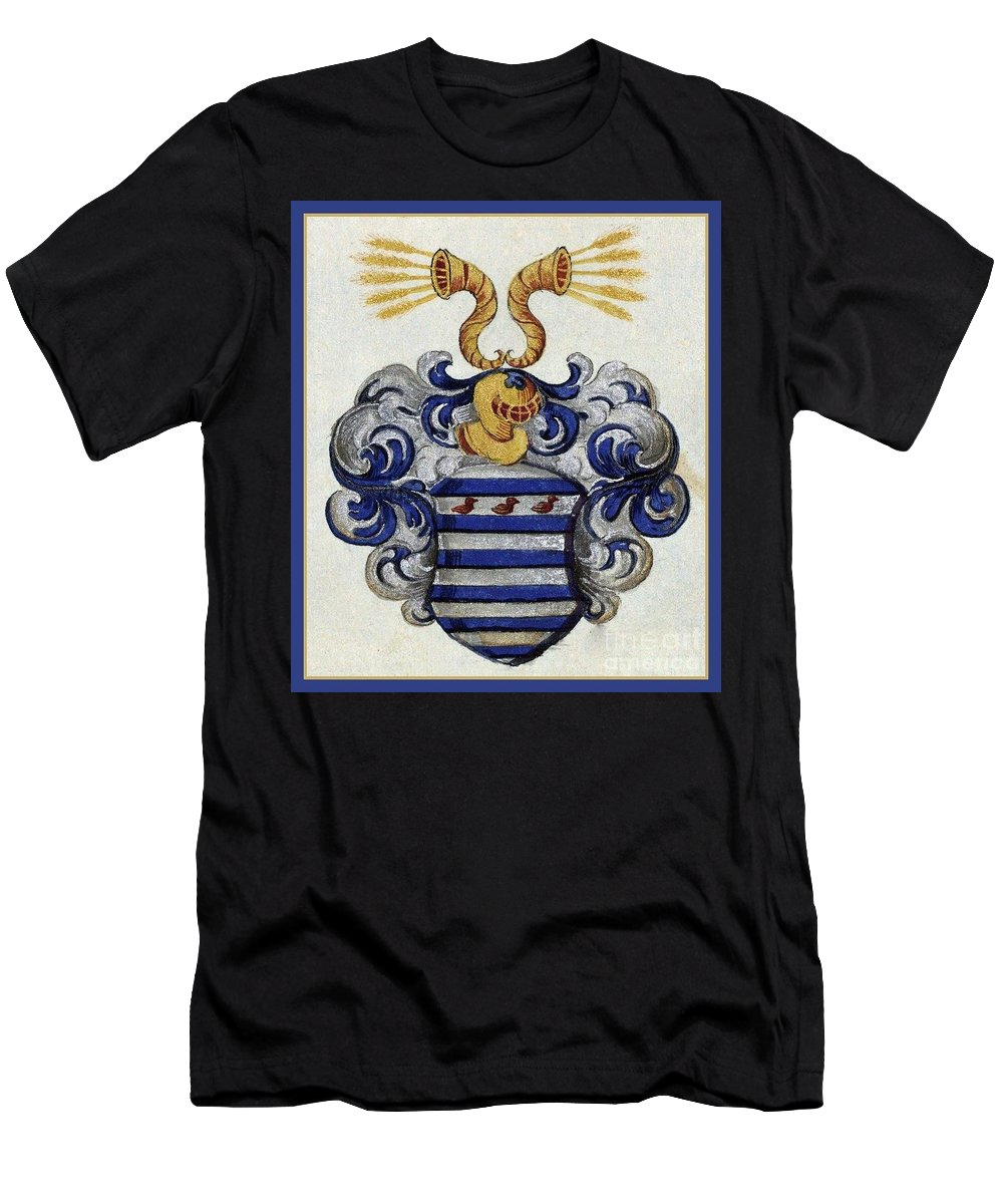 Coat Of Arms. Men's T-Shirt (Athletic Fit) featuring the digital art Coat Of Arms. by Blanca Medina
