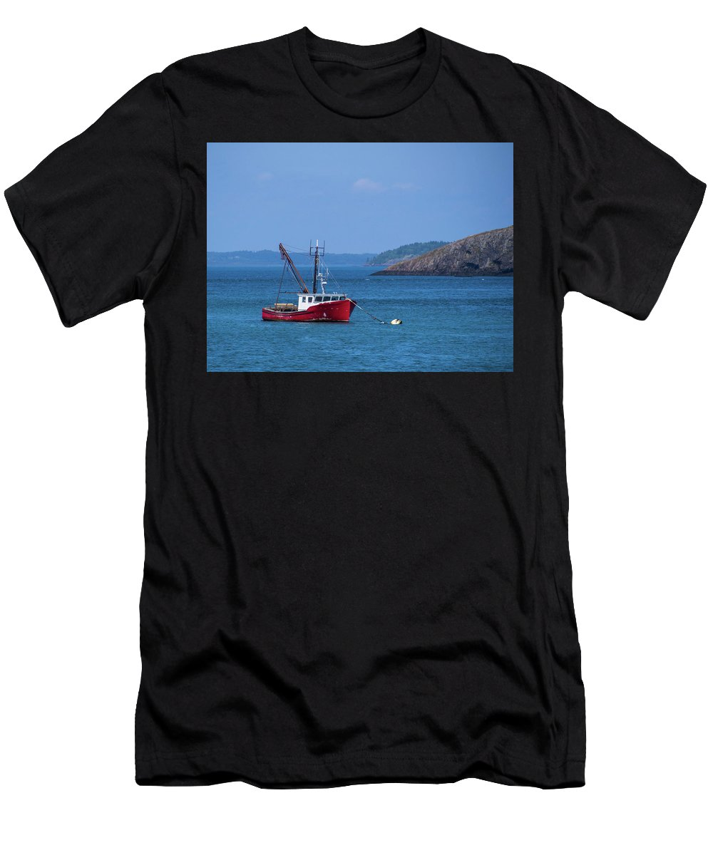 Lubec Men's T-Shirt (Athletic Fit) featuring the photograph Lubec ,maine by Trace Kittrell