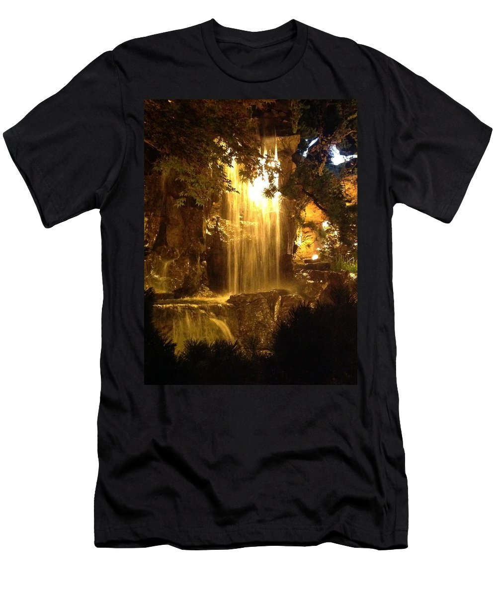 At Night Men's T-Shirt (Athletic Fit) featuring the photograph Photographs by Suntaree Nujai