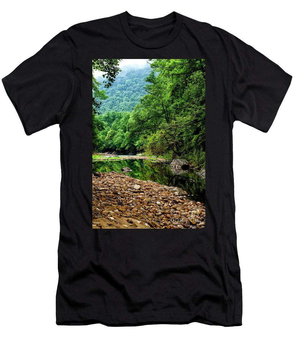 Williams River Men's T-Shirt (Athletic Fit) featuring the photograph Williams River Summer by Thomas R Fletcher