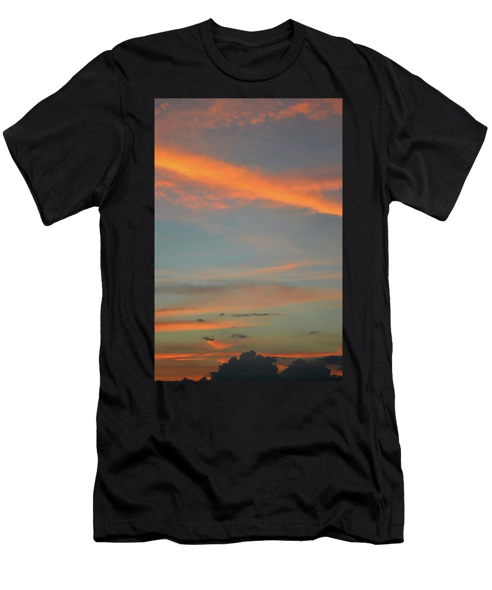 Abstract Men's T-Shirt (Athletic Fit) featuring the photograph 9.17 Pm June 6-2016 by Lyle Crump