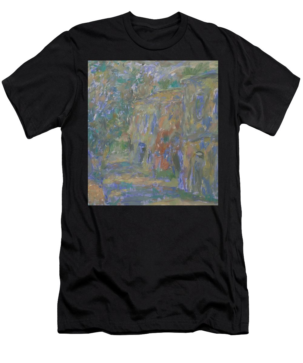 Street Men's T-Shirt (Athletic Fit) featuring the painting Landscape by Robert Nizamov