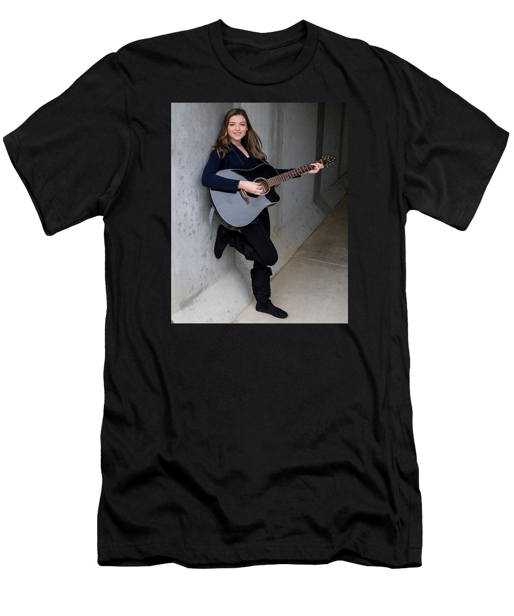Musician Men's T-Shirt (Athletic Fit) featuring the photograph 9532 by Teresa Blanton