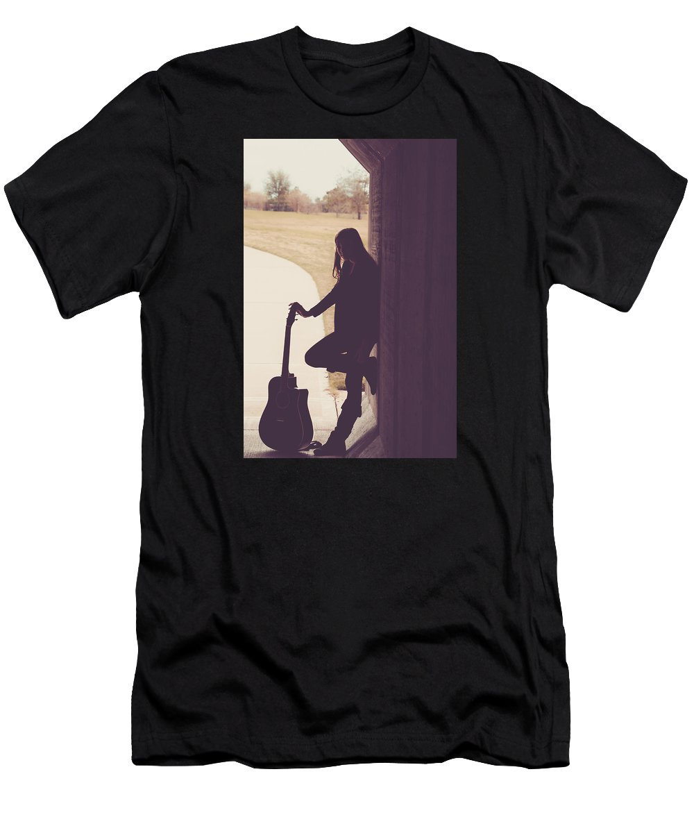 Musician Men's T-Shirt (Athletic Fit) featuring the photograph 9561 by Teresa Blanton