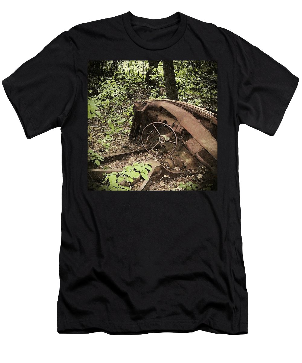 Urban Decay Collection By Serge Averbukh T-Shirt featuring the photograph Abandoned 50s Classic.... by Serge Averbukh