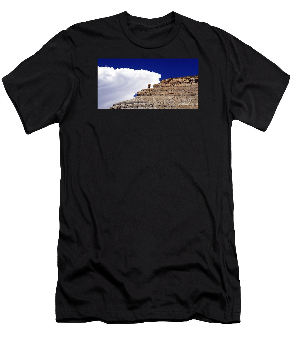 Geology Men's T-Shirt (Athletic Fit) featuring the photograph A Balanced Rock by Marland Howard