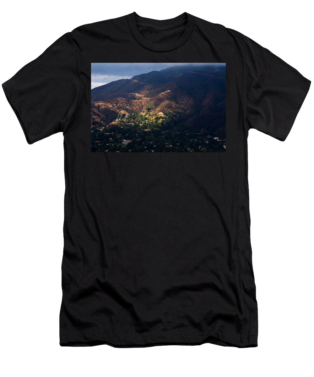 Clay Men's T-Shirt (Athletic Fit) featuring the photograph A Break In The Clouds In Southern California by Clayton Bruster