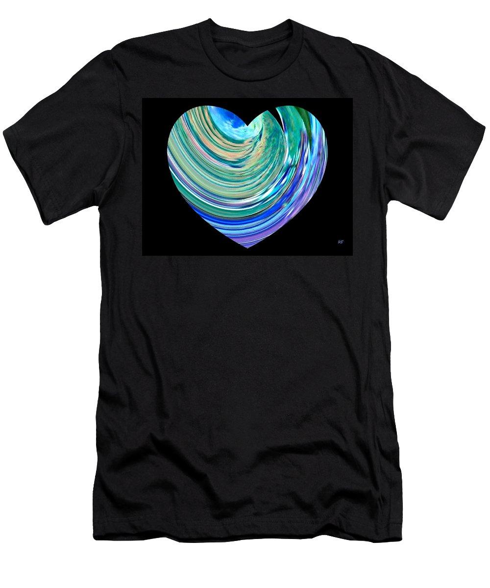 Broken Heart Men's T-Shirt (Athletic Fit) featuring the digital art A Broken Heart by Will Borden