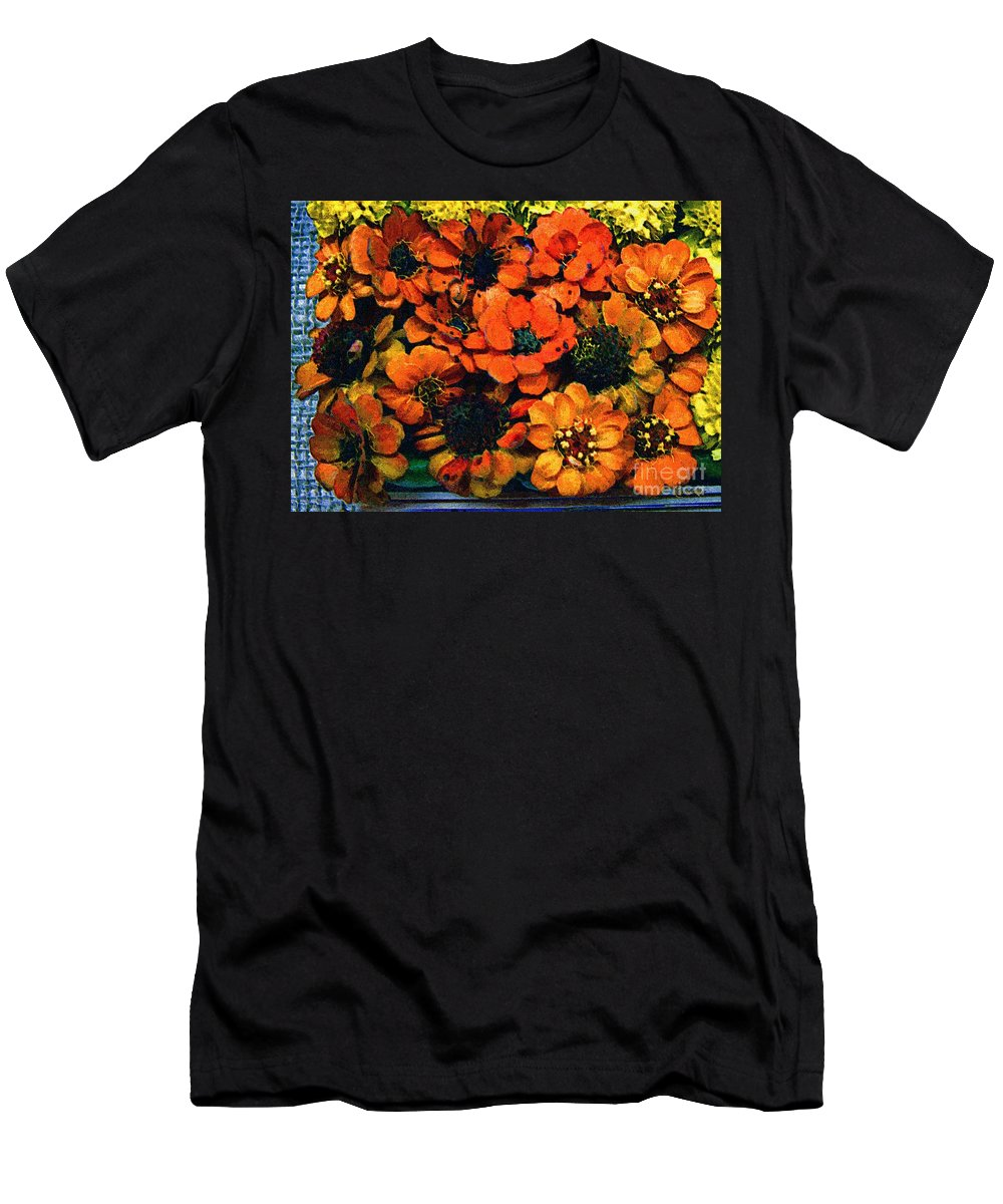 Flowers Men's T-Shirt (Athletic Fit) featuring the painting A Collation Of Brilliance by RC DeWinter
