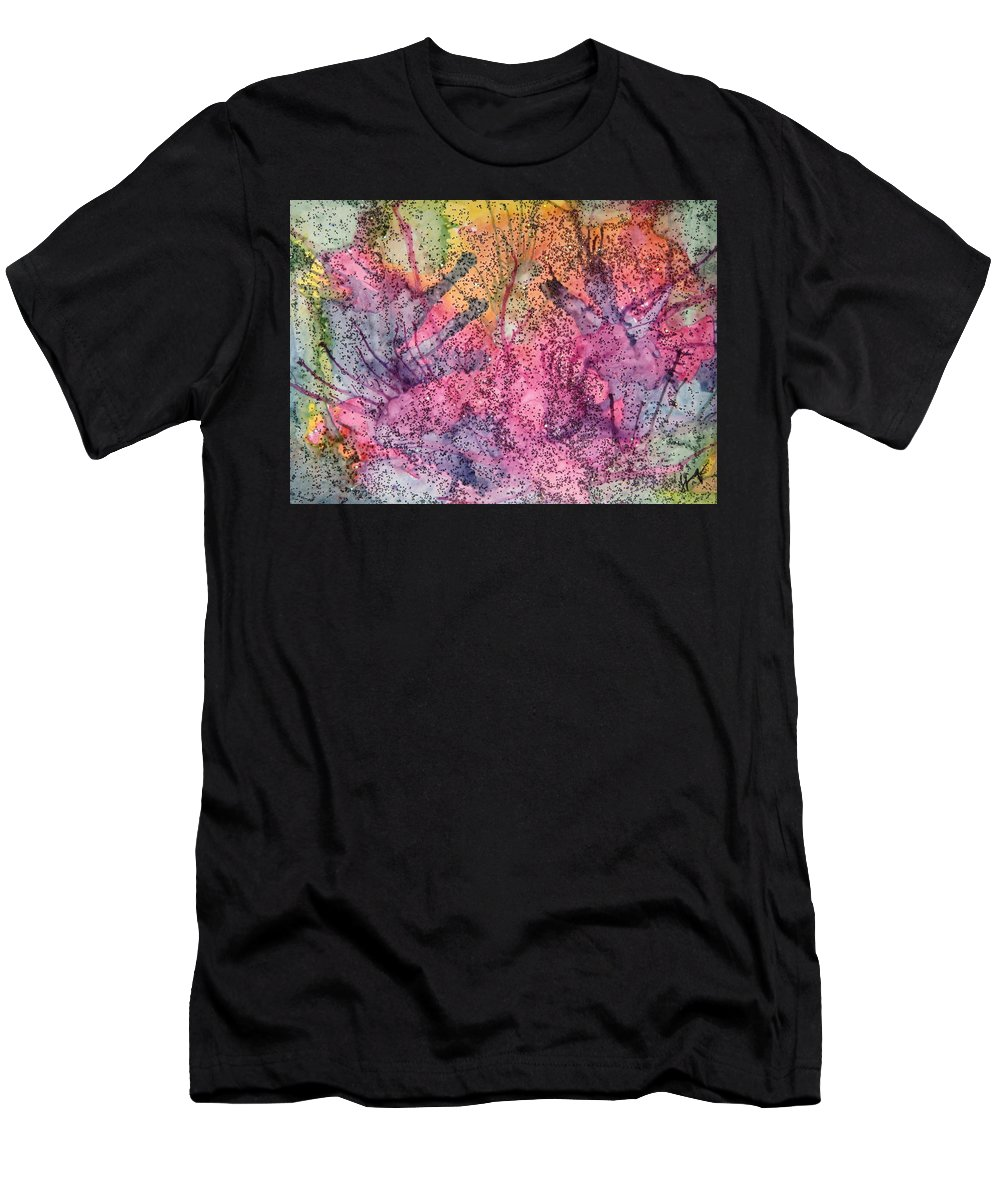 Colorful Men's T-Shirt (Athletic Fit) featuring the painting A Colorful Lecture On Glitter by Tammy Finnegan