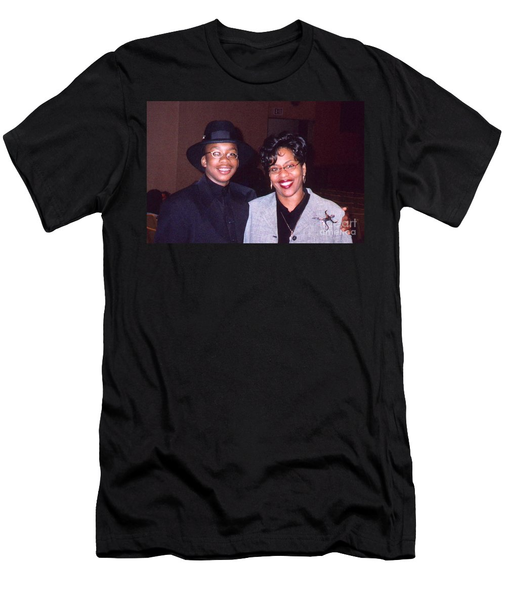Joshua Men's T-Shirt (Athletic Fit) featuring the photograph A Cool Dude And His Mom by Angela L Walker