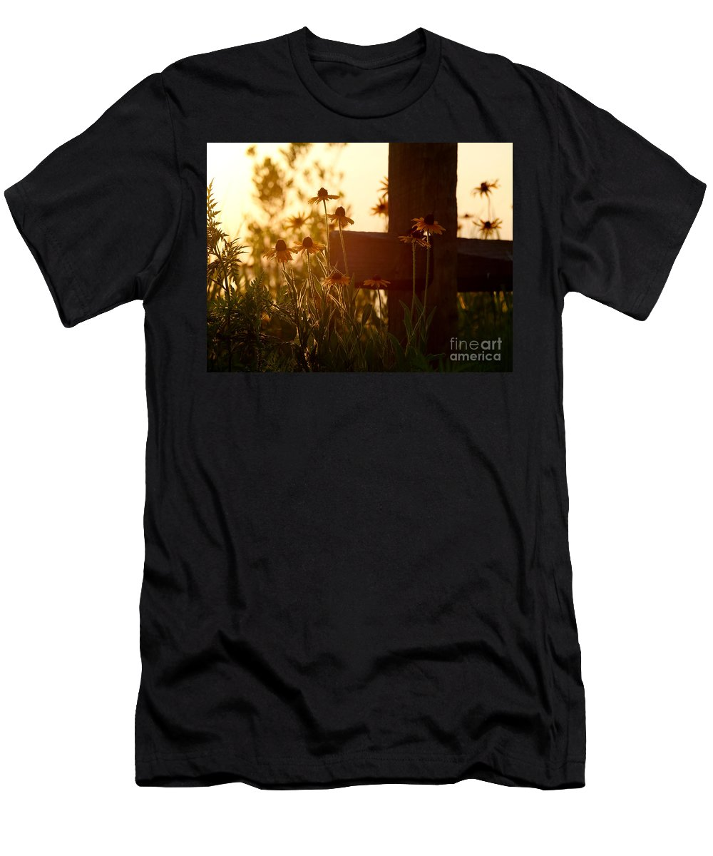 Flowers Men's T-Shirt (Athletic Fit) featuring the photograph A Cross by Rachel Morrison