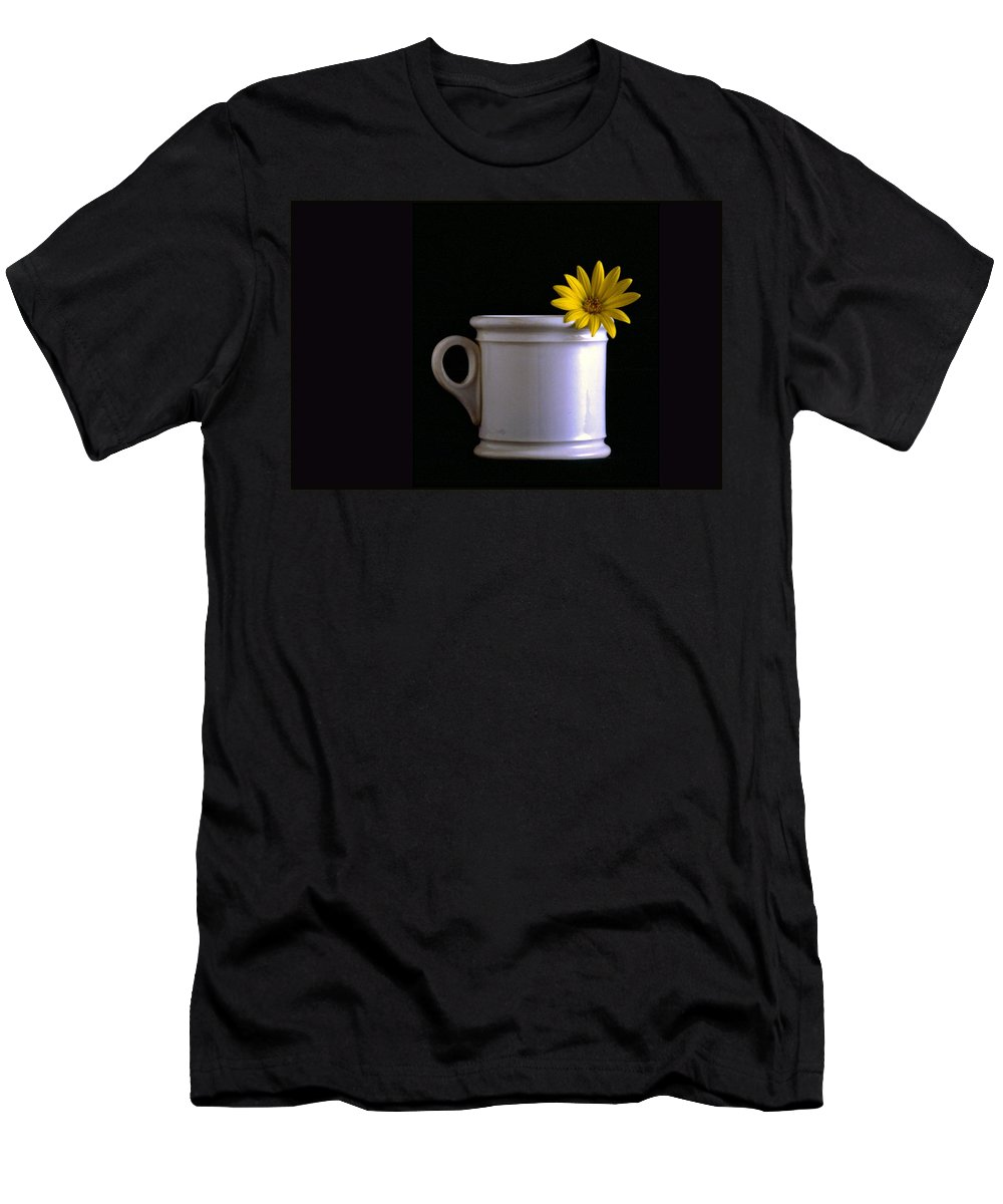 Flower Men's T-Shirt (Athletic Fit) featuring the photograph A Cup Of Flower by Wallace Rollins