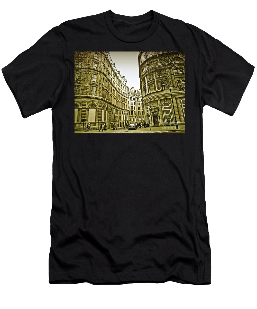London Men's T-Shirt (Athletic Fit) featuring the photograph A Day In London by Madeline Ellis