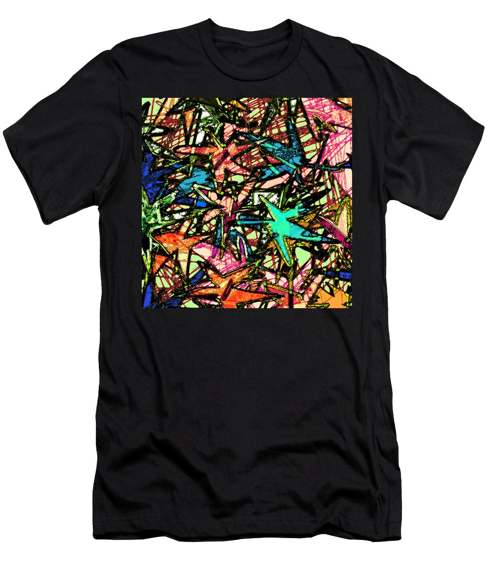 Abstract Men's T-Shirt (Athletic Fit) featuring the digital art A Dream Shattered by Rachel Christine Nowicki