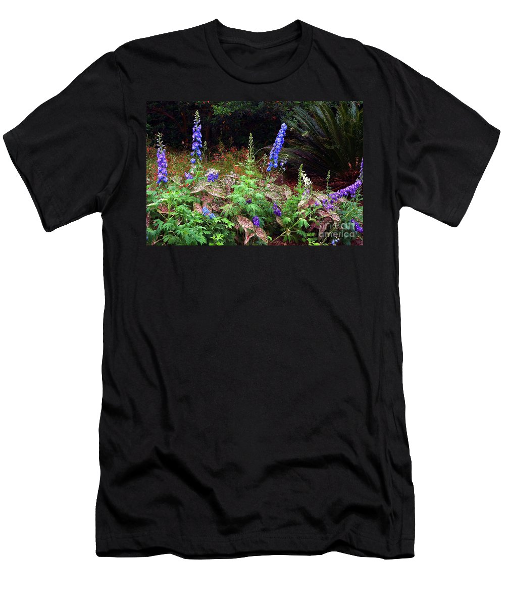 Botanical Men's T-Shirt (Athletic Fit) featuring the photograph A Field Of Wildflowers by Randy Matthews
