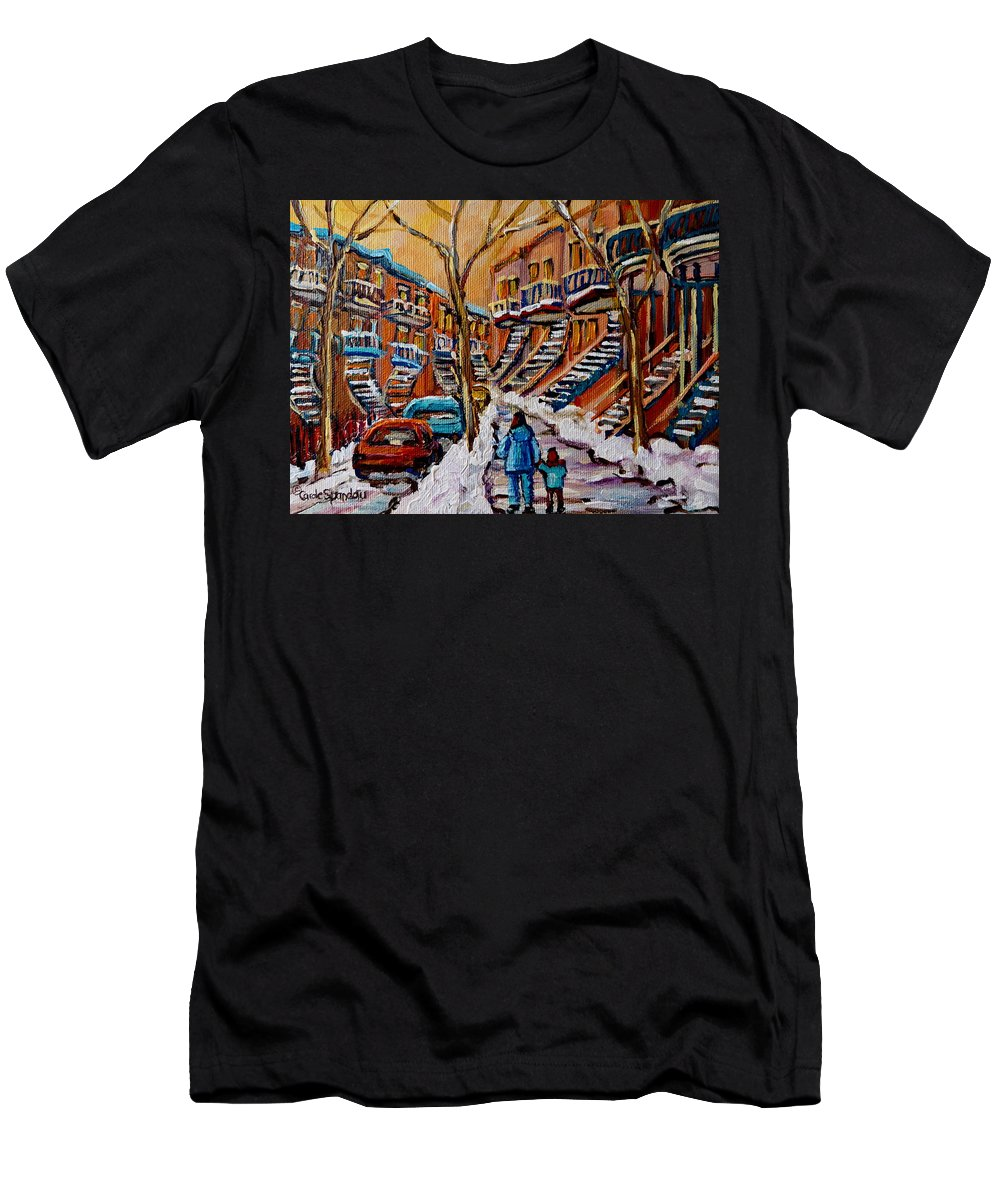 Montreal Men's T-Shirt (Athletic Fit) featuring the painting A Glorious Day by Carole Spandau