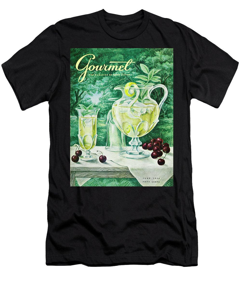 Food Men's T-Shirt (Athletic Fit) featuring the photograph A Gourmet Cover Of Glassware by Hilary Knight