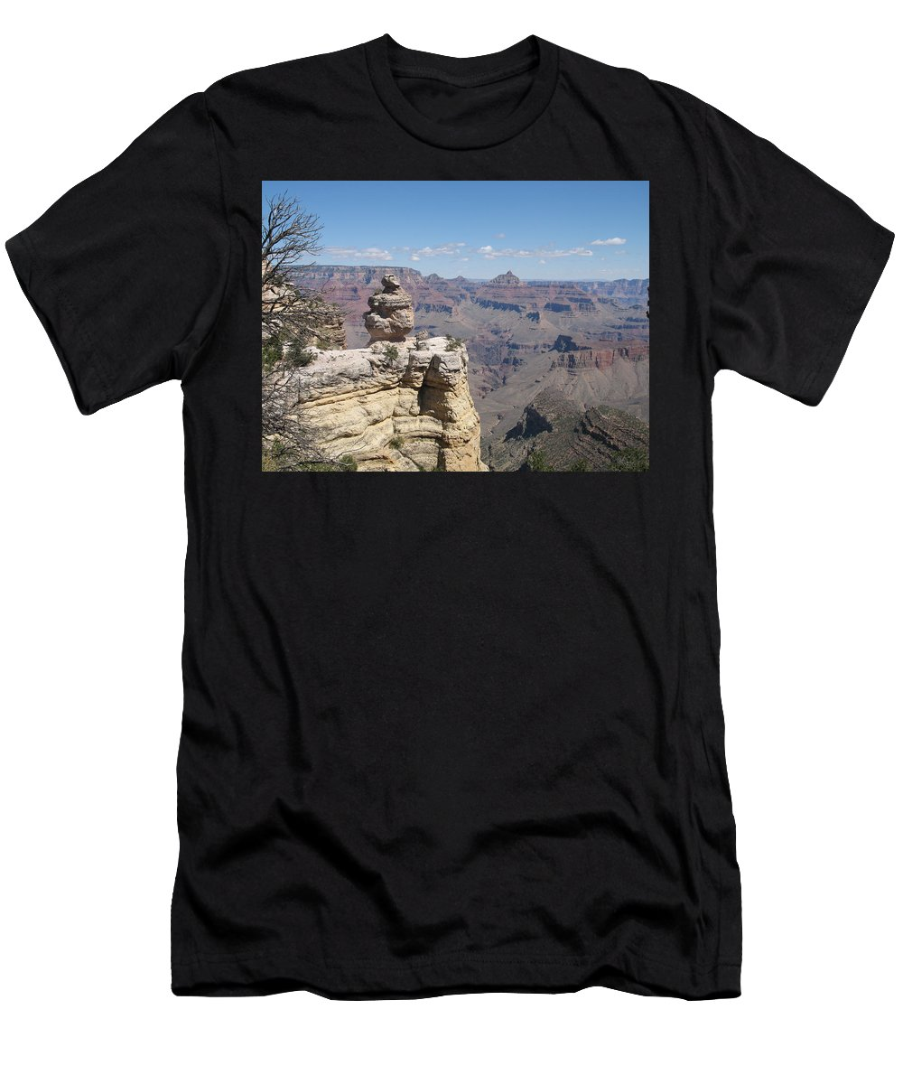 Canyon Men's T-Shirt (Athletic Fit) featuring the photograph Grand Canyon Viewpoint by Christiane Schulze Art And Photography