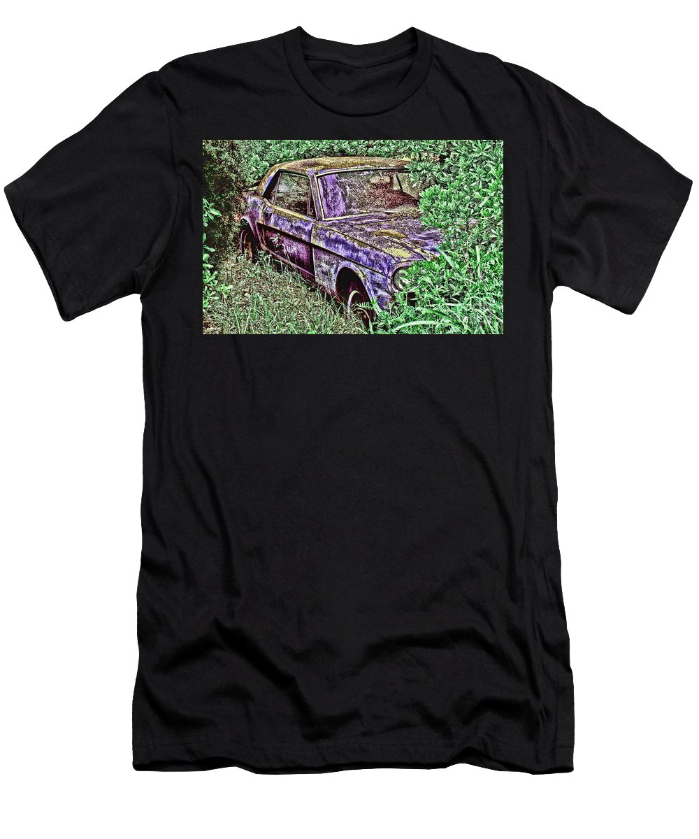 Mustang Men's T-Shirt (Athletic Fit) featuring the digital art A Hidden Pony by Tommy Anderson
