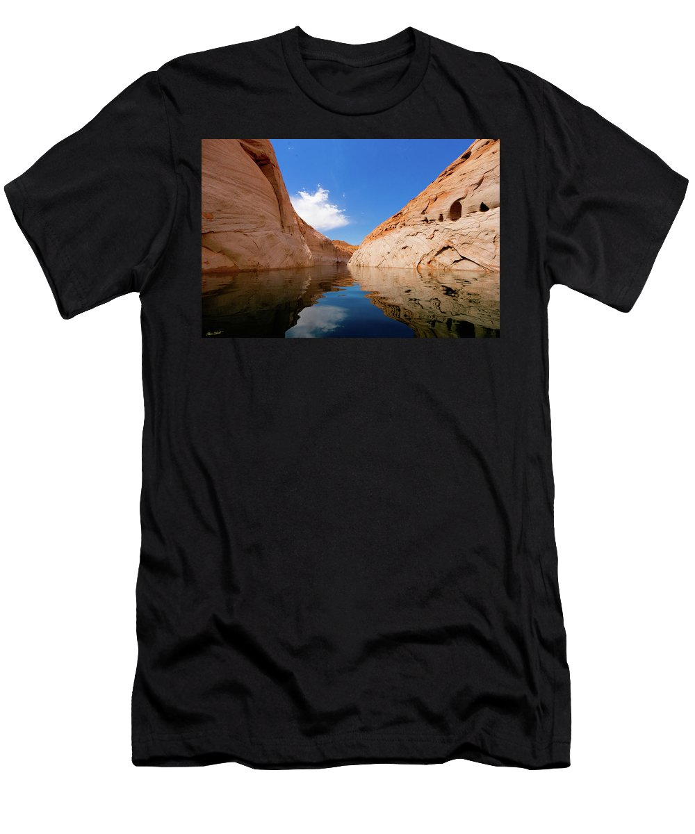 Adventure Men's T-Shirt (Athletic Fit) featuring the photograph A Leisurely Paddle by Mumbles and Grumbles