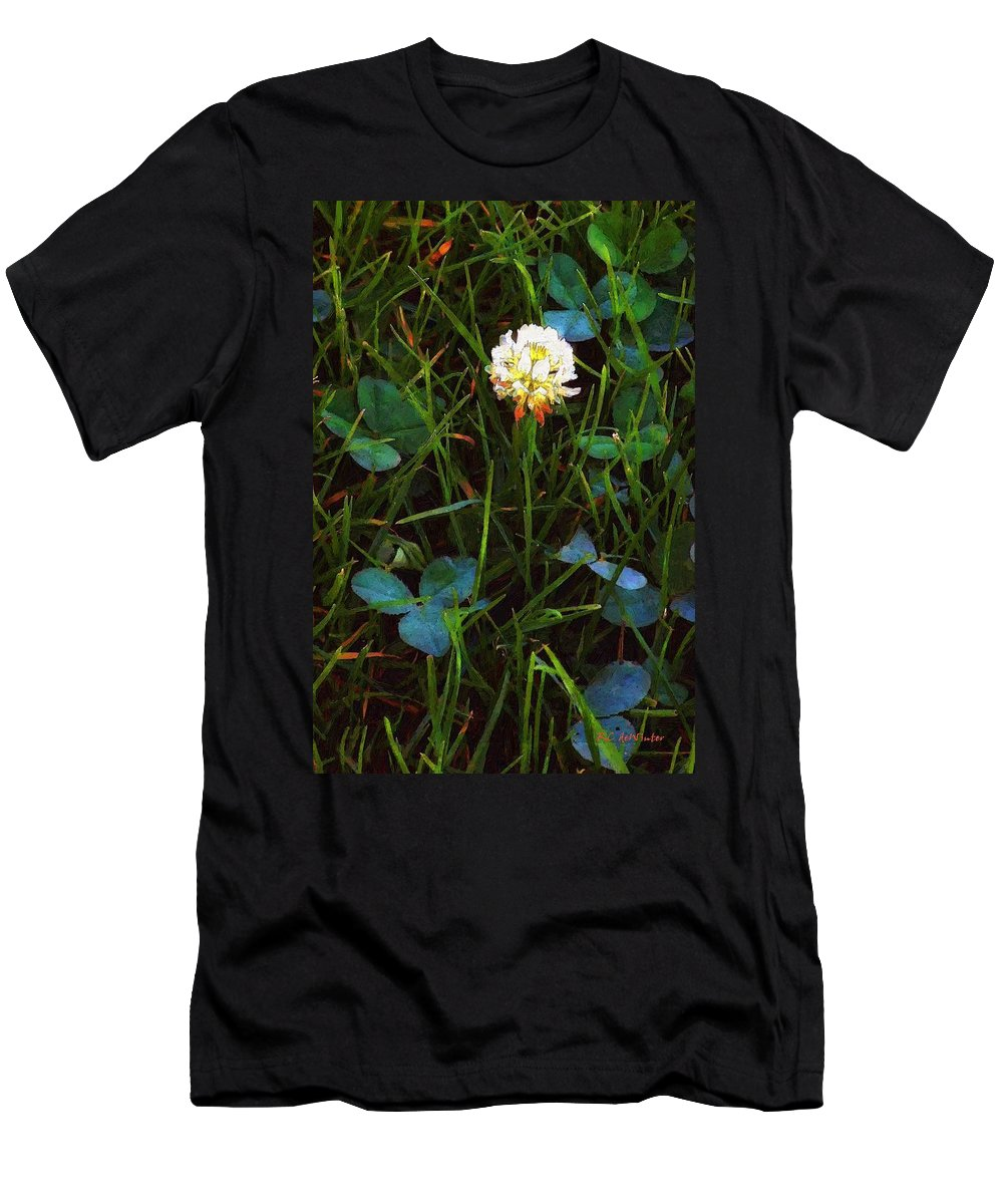 Clover Men's T-Shirt (Athletic Fit) featuring the painting A Little Bit Of Luck by RC DeWinter