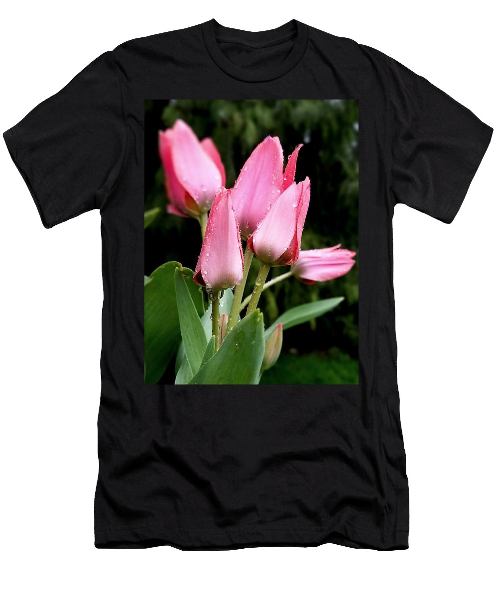 Flower Men's T-Shirt (Athletic Fit) featuring the photograph A Little Sunshine Please by Teresa A Lang