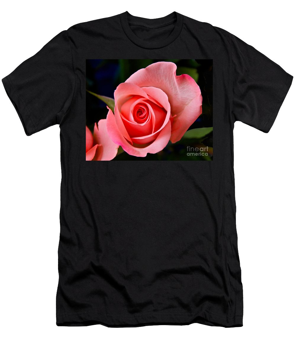 Photography Men's T-Shirt (Athletic Fit) featuring the photograph A Loving Rose by Sean Griffin