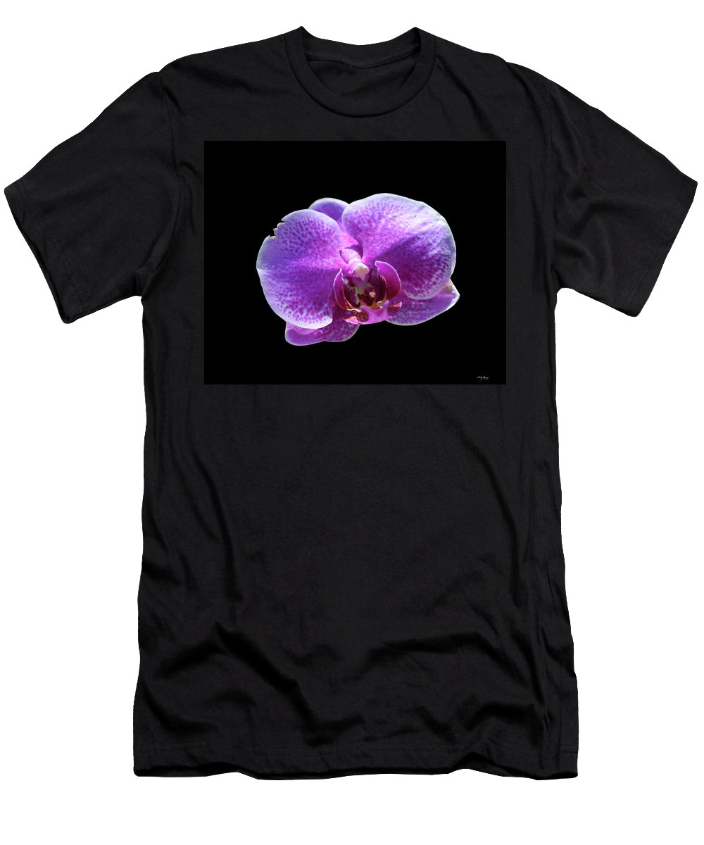 Orchid Men's T-Shirt (Athletic Fit) featuring the photograph A Monster Within by Sally Sperry