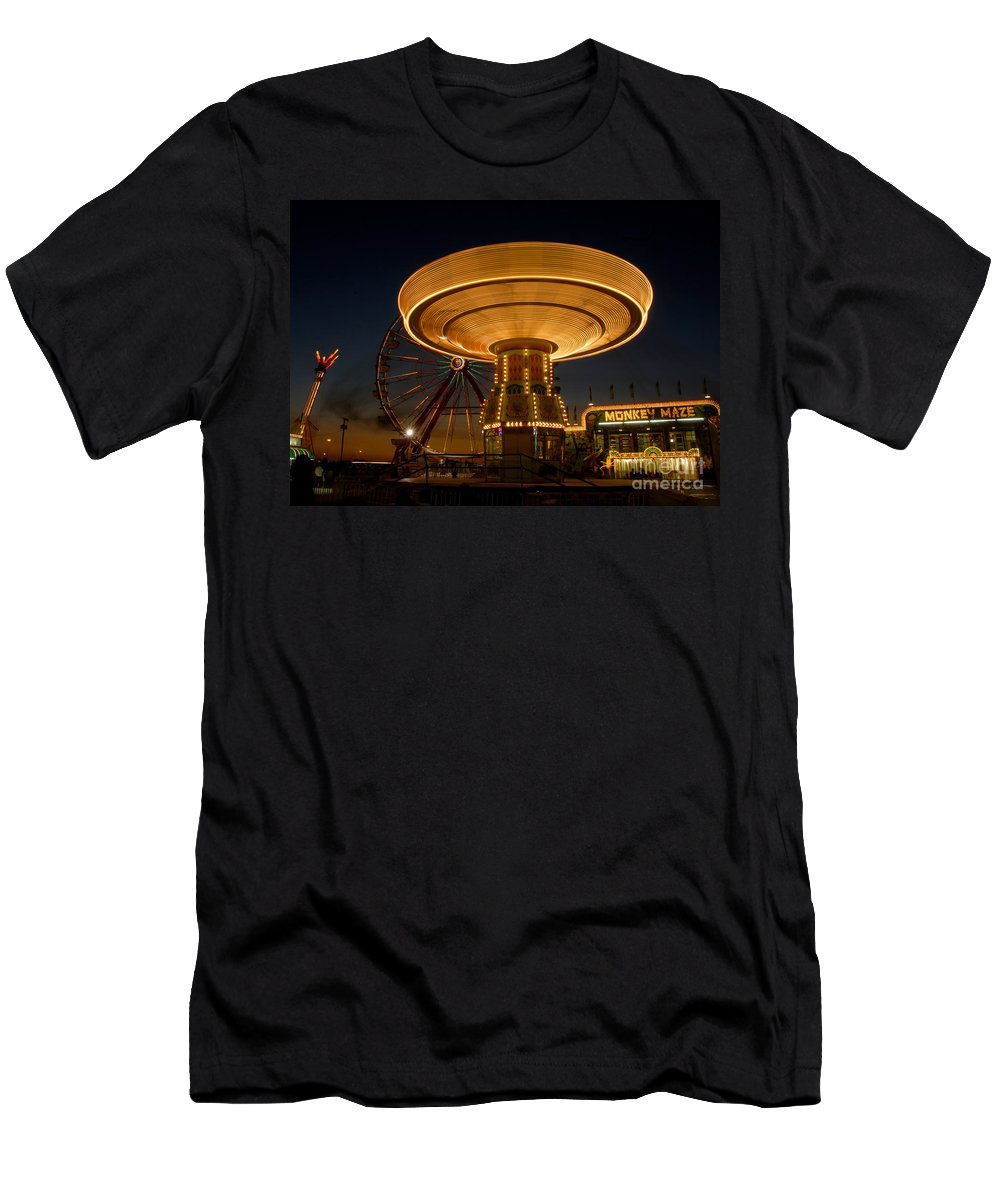 Fair Men's T-Shirt (Athletic Fit) featuring the photograph A Night At The Fair by David Lee Thompson