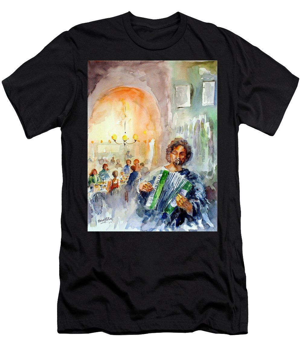 Tavern Men's T-Shirt (Athletic Fit) featuring the painting A Night At The Tavern by Faruk Koksal