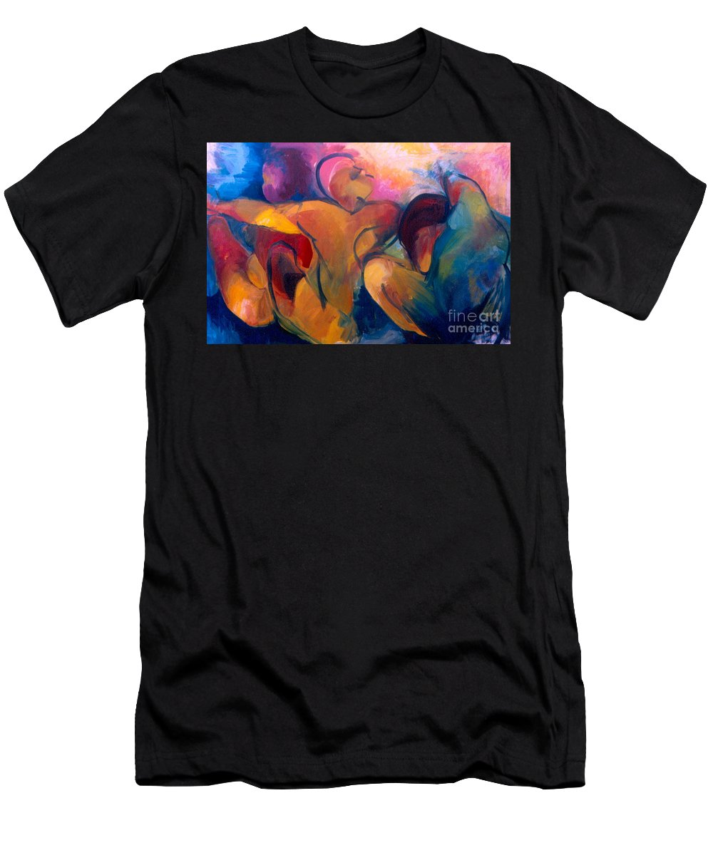 Oil Painting Men's T-Shirt (Athletic Fit) featuring the painting A Passion To Be Raised by Daun Soden-Greene
