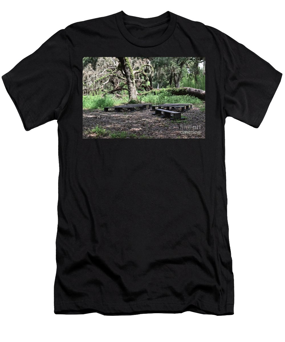 Nature Men's T-Shirt (Athletic Fit) featuring the photograph A Place To Rest by Carol Bradley