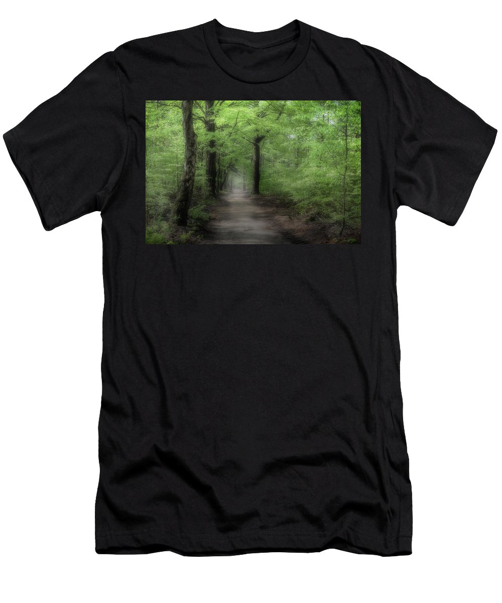 Gelderland Men's T-Shirt (Athletic Fit) featuring the photograph A Preview Of Speulderbos by Tim Abeln