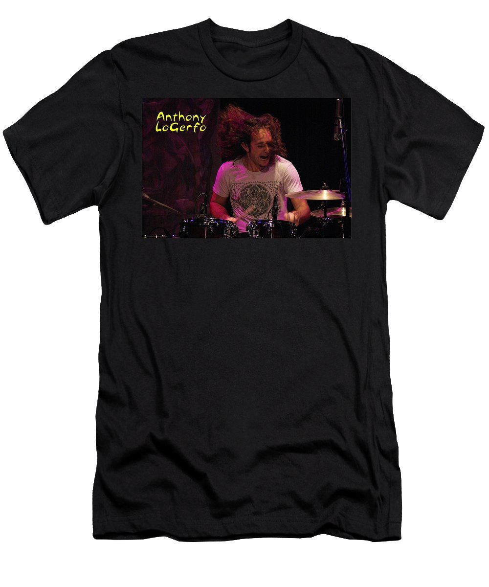 Lukas Nelson Men's T-Shirt (Athletic Fit) featuring the photograph A Real Drummer by Ben Upham