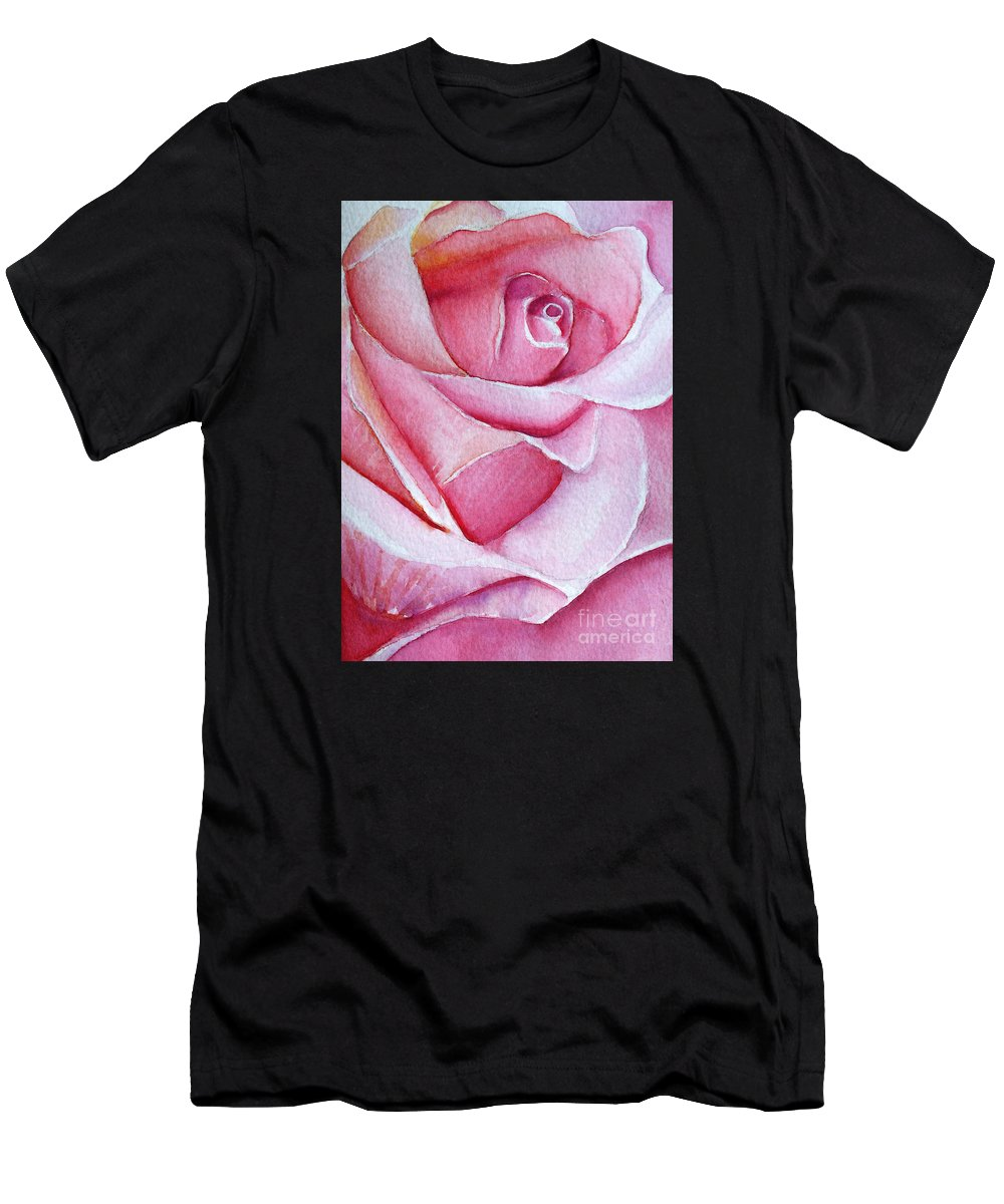 Rose Men's T-Shirt (Athletic Fit) featuring the painting A Rose For You by Allison Ashton