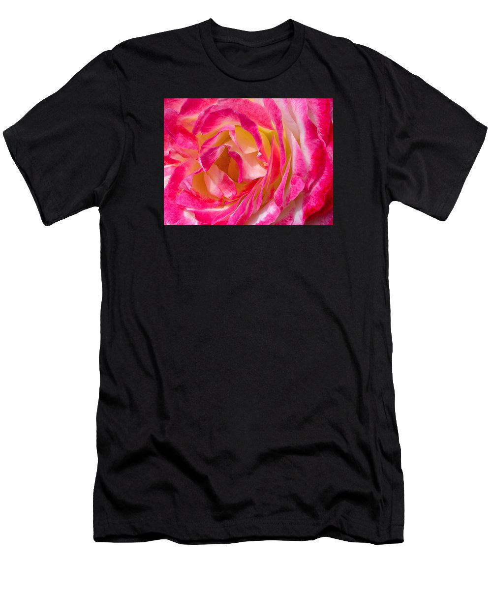 Rose Men's T-Shirt (Athletic Fit) featuring the photograph A Rose Is A Rose by Lindy Pollard