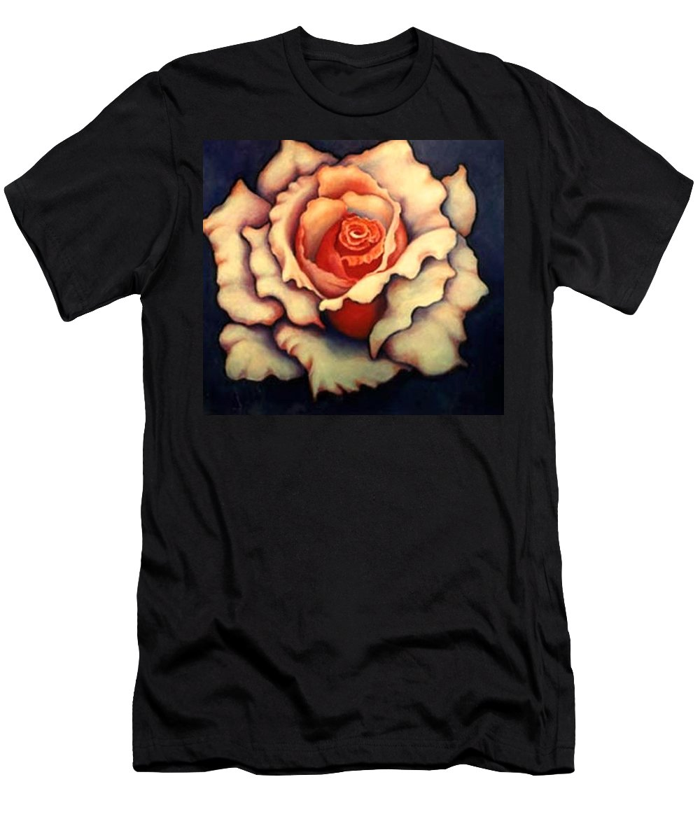 Flower Men's T-Shirt (Athletic Fit) featuring the painting A Rose by Jordana Sands