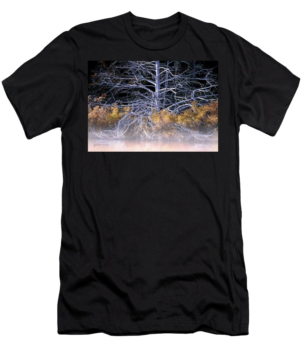 Sycamore Men's T-Shirt (Athletic Fit) featuring the photograph A Shelter, Still by Sydnee Crain
