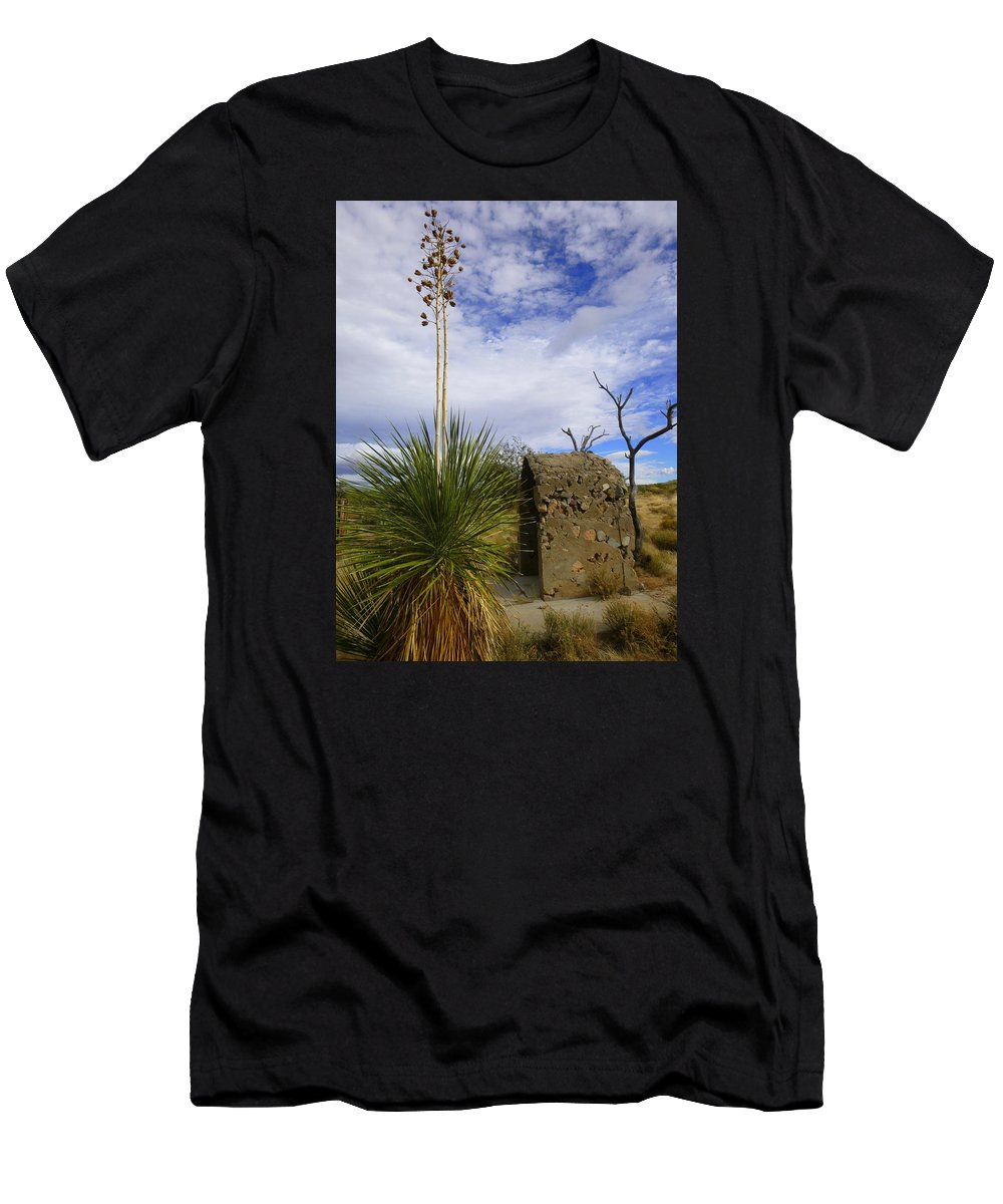 Tucson Men's T-Shirt (Athletic Fit) featuring the photograph A Shrine In The Desert by Teresa Stallings