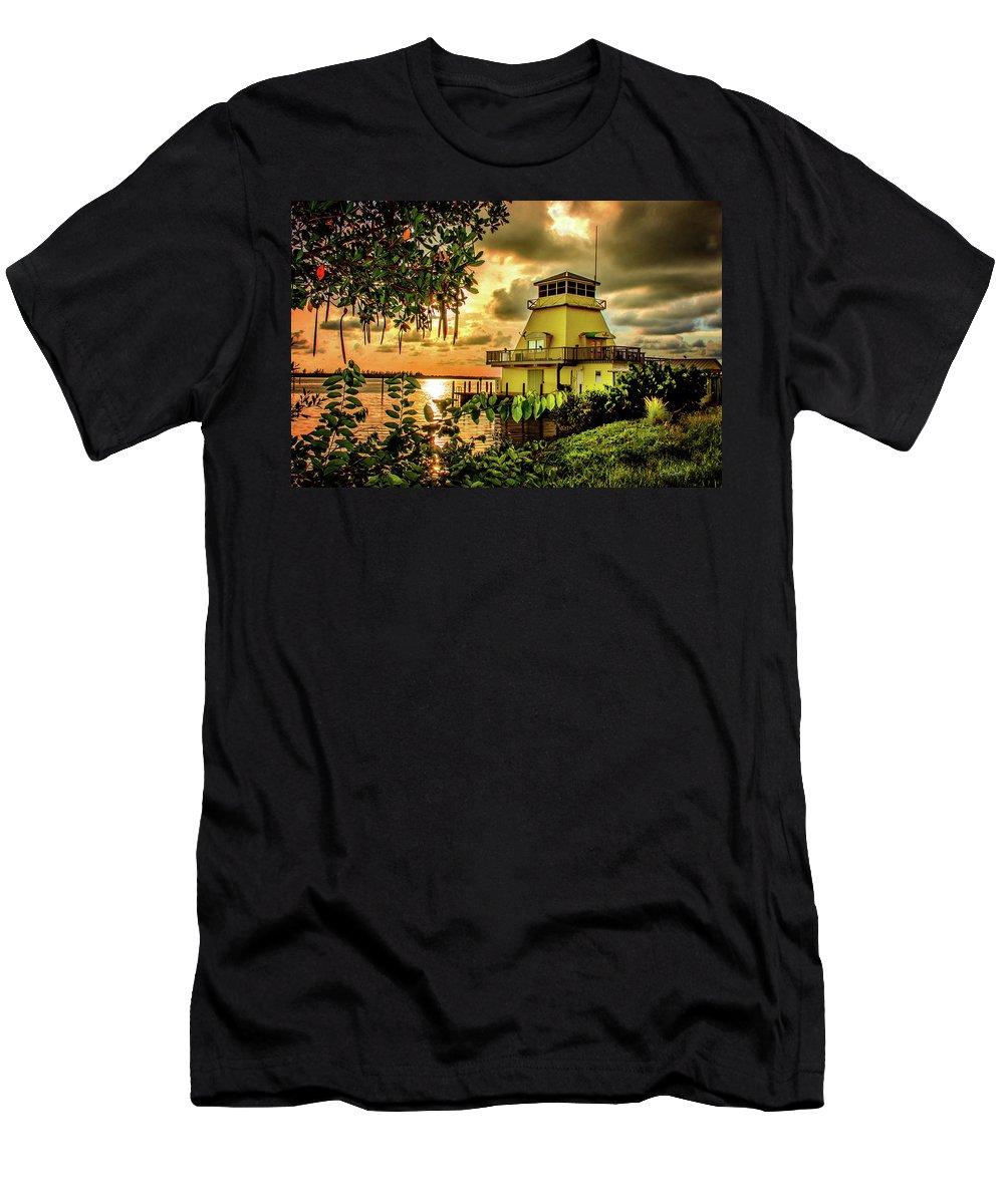 Storm Men's T-Shirt (Athletic Fit) featuring the photograph A Storm Approaches Stump Pass by Robert Schmitt