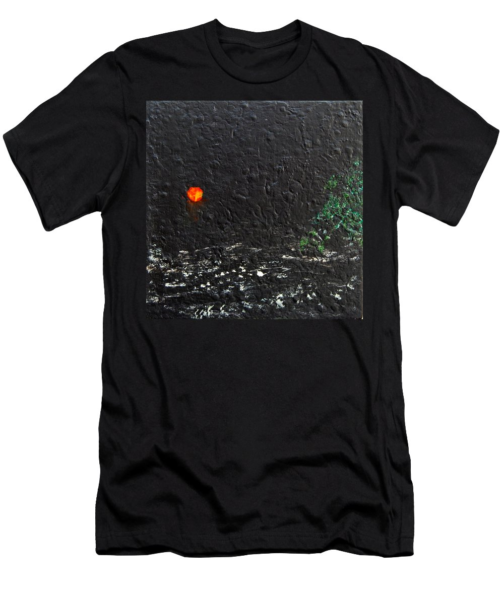 Abstract Men's T-Shirt (Athletic Fit) featuring the mixed media A Strange Night by Rita Lulay Malsch